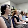 Little Theatre of Wilkes-Barre rehearsing for September performance of 'Rock of Ages'